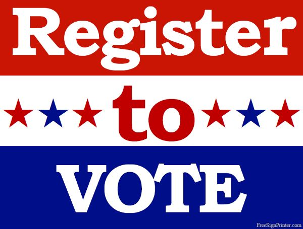 Let Your Voice Be Heard<br>Register to Vote!