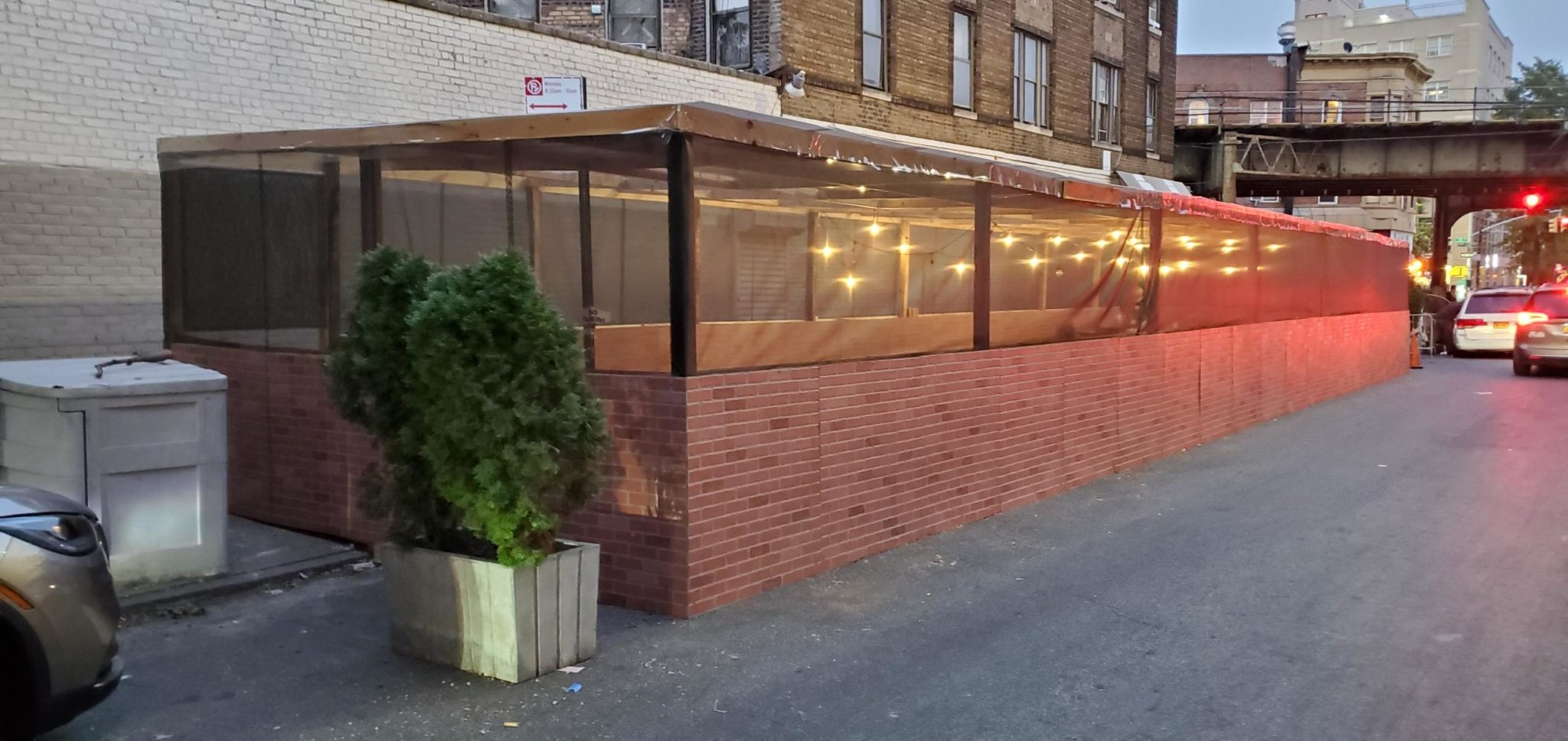 Large Outdoor Dining Space Erected To Serve Charity Meals For Rosh Hashanah In a Safe Setting at Masbia of Boro Park
