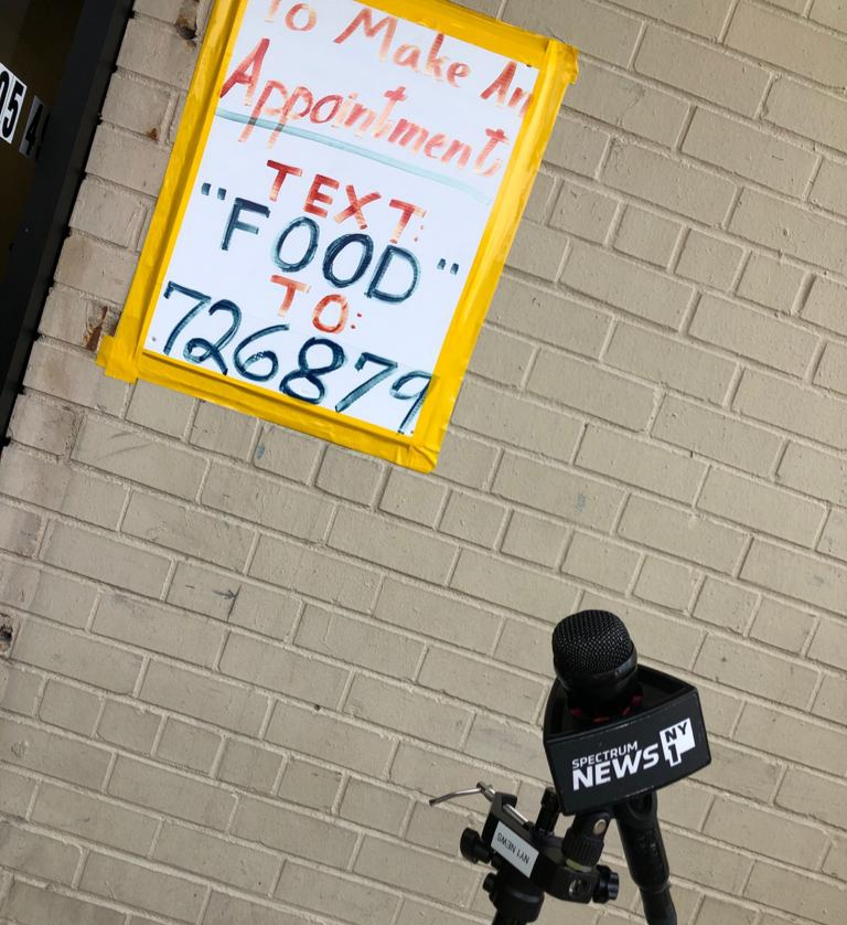 During Covid-19 NY1 reported at Masbia of Queens distributing Diary Products for Shavuot