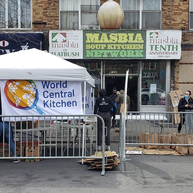 masbia soup kitchen and worlds central kitchen distributes free food for those in need during coronavirus pandemic