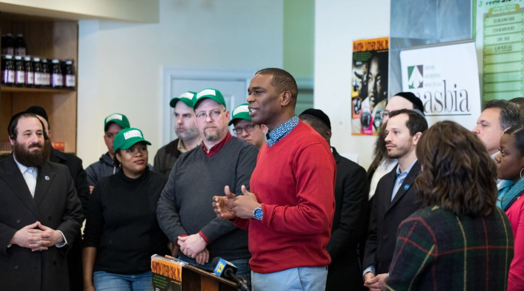 Local leader from brooklyn during MLK Day at Masbia Soup Kitchen