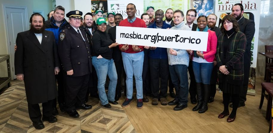 officials members of NYC and NJ gathering together at masbia of brooklyn