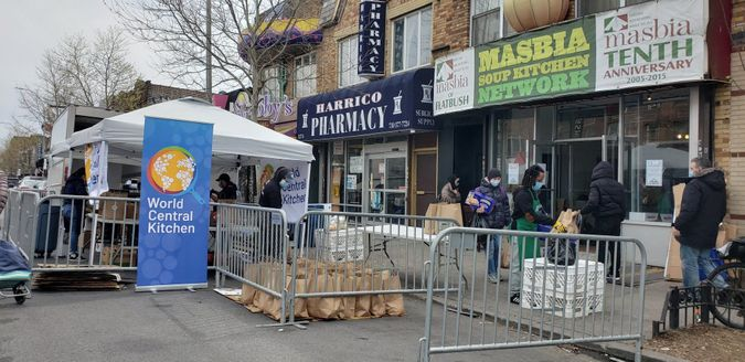 masbia soup kitchen of Flatbush super bowl 2021 event chicken wing shortage