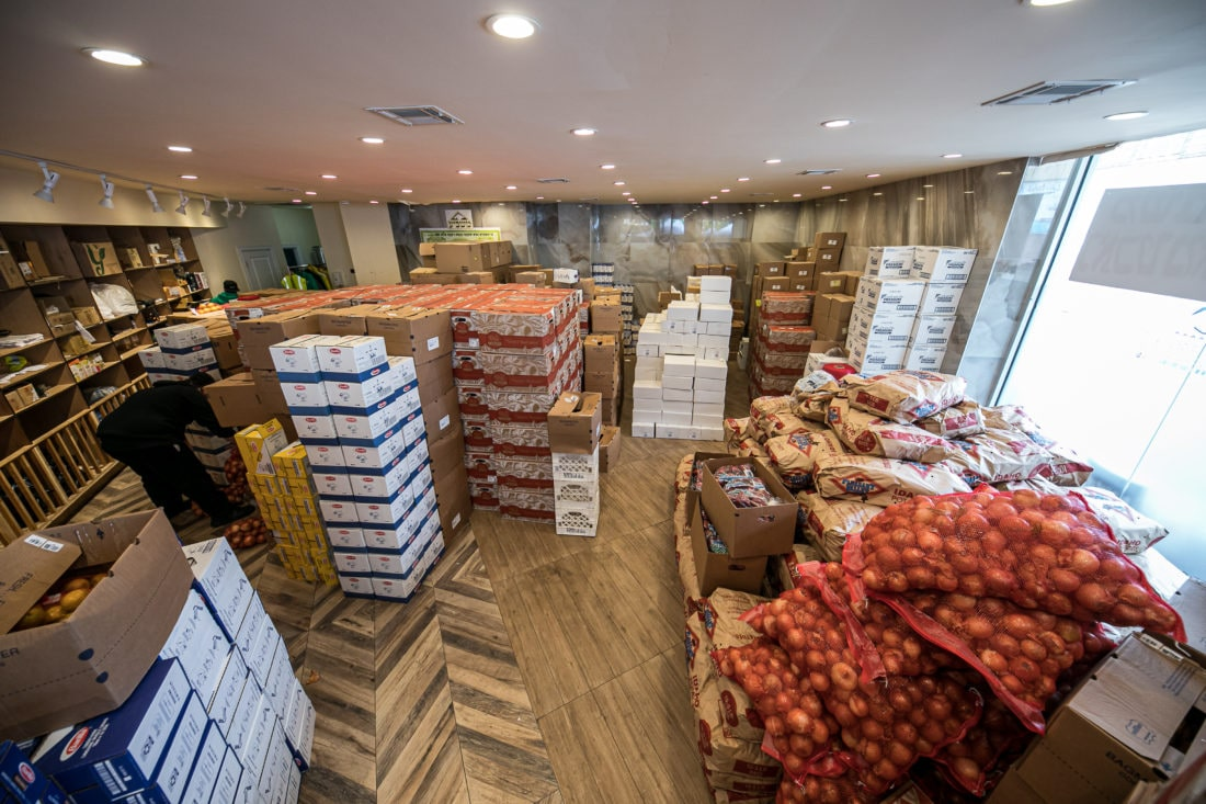 Fresh vegetables and groceries stocked at Masbia of Boro Park
