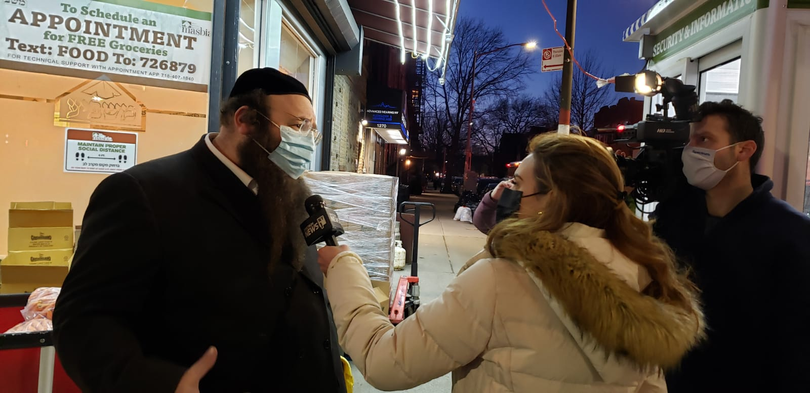 reported Shannan Ferry of NY1 at Masbia Boro Park Interviews ED Alexander Rapaport