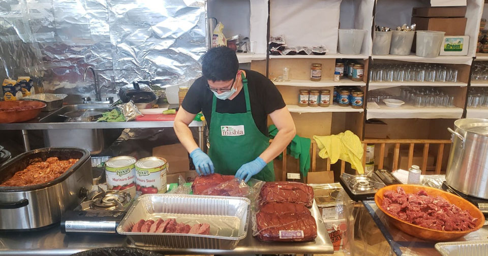Masbia of Boro Park Chef Ruben Diaz Cooking on Passover