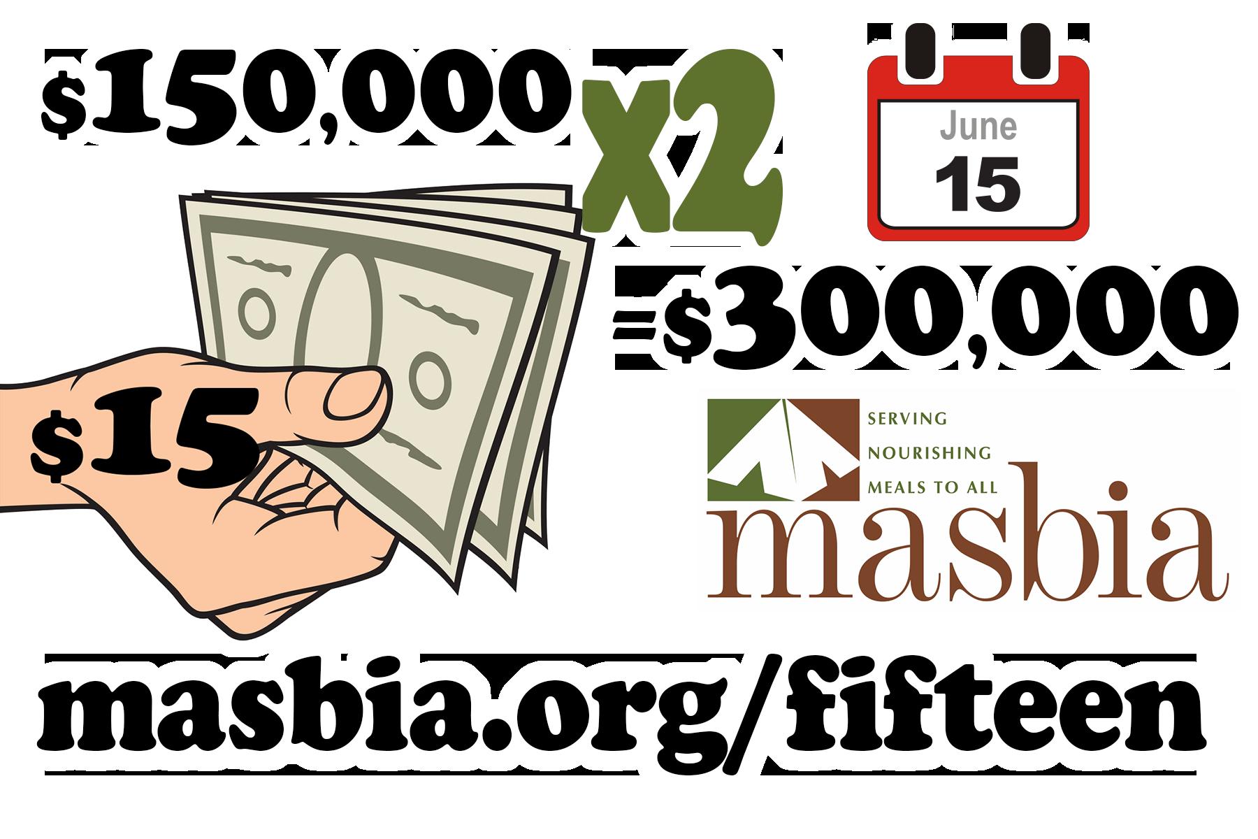 masbia charity food match goal matching donor generosity