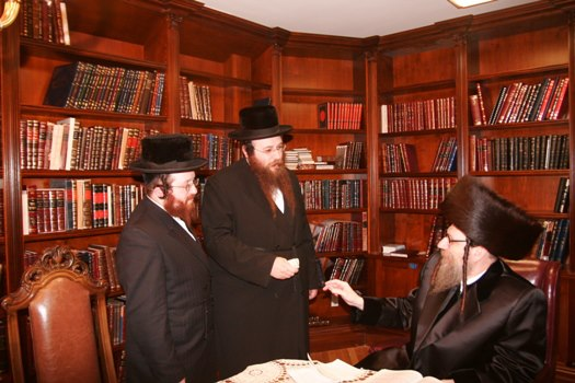 Masbia Supporter, Borshtiner Rebbe, Rabbi David Eichenstein Donating to Feed the Needy