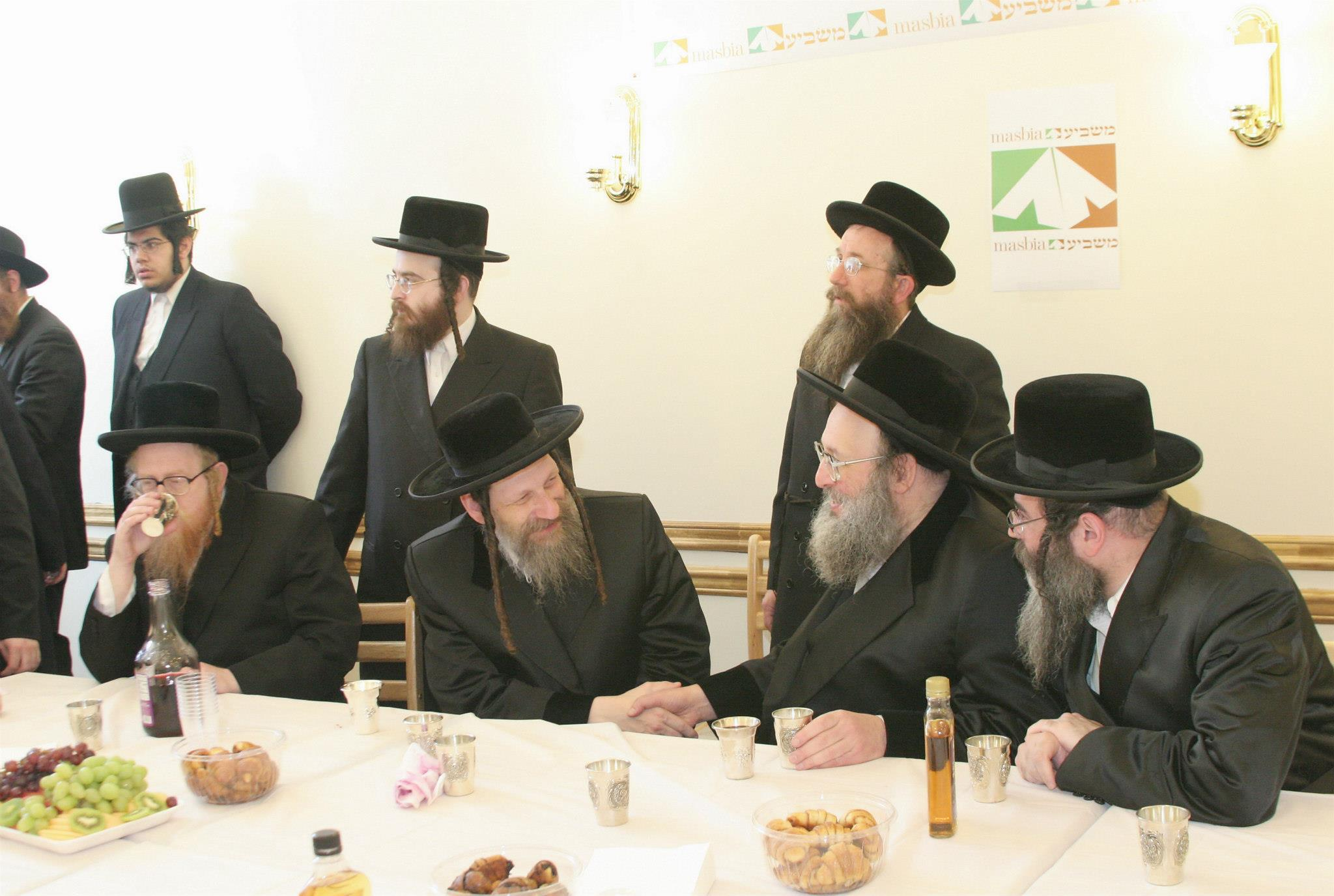 Masbia Supporter, Borshtiner Rebbe, Rabbi David Eichenstein at Inaugural Reception for Masbia