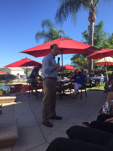 Speaking to Valley Center Voters in September