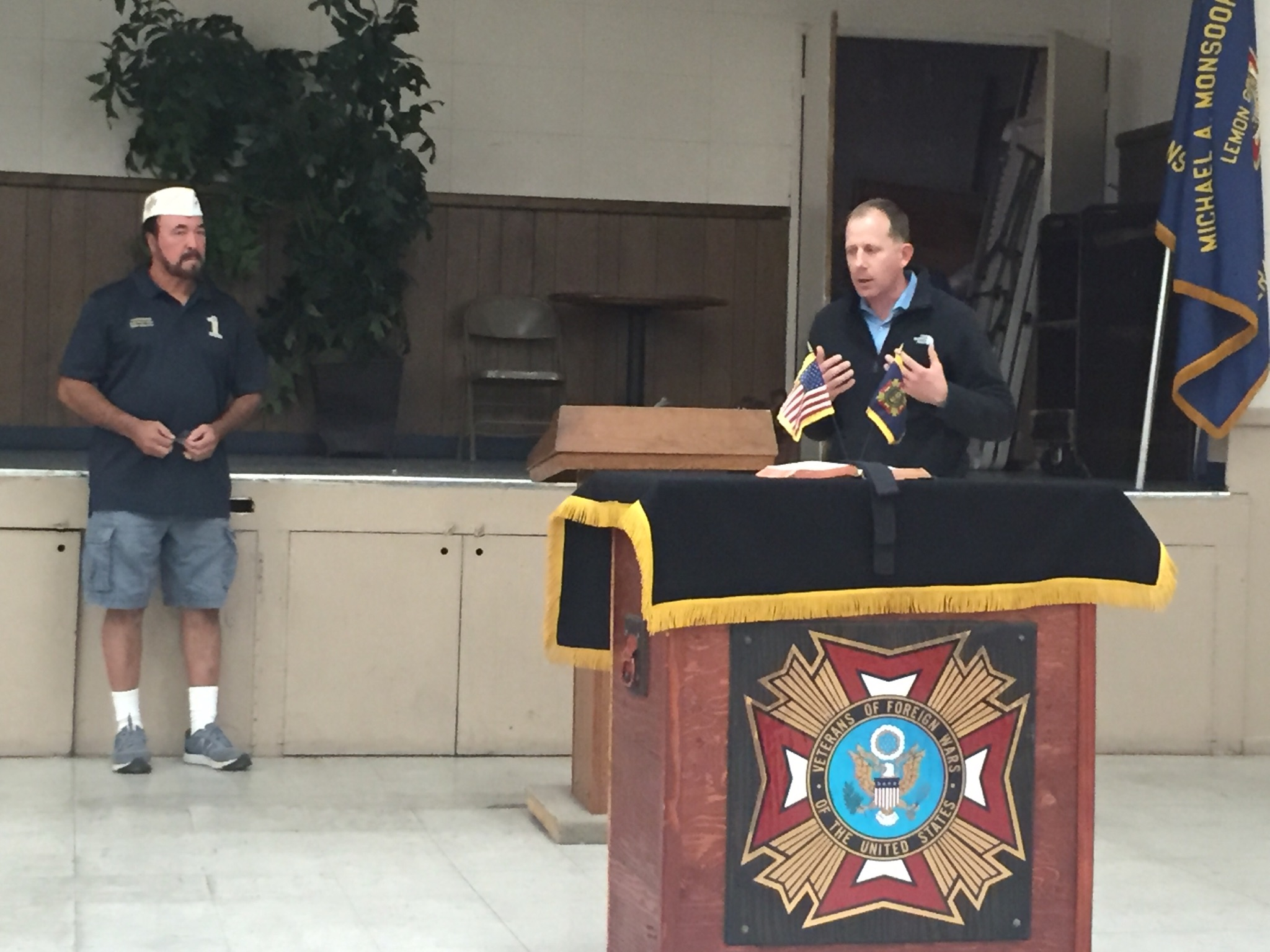Speaking to Lemon Grove VFW Post 2082 in Oct 2018