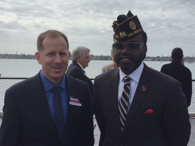 Commemmorating out heroes aboard the USS Midway with the National Association of Black Veterans and American Legion Post 310 Commander Carletus Patrick