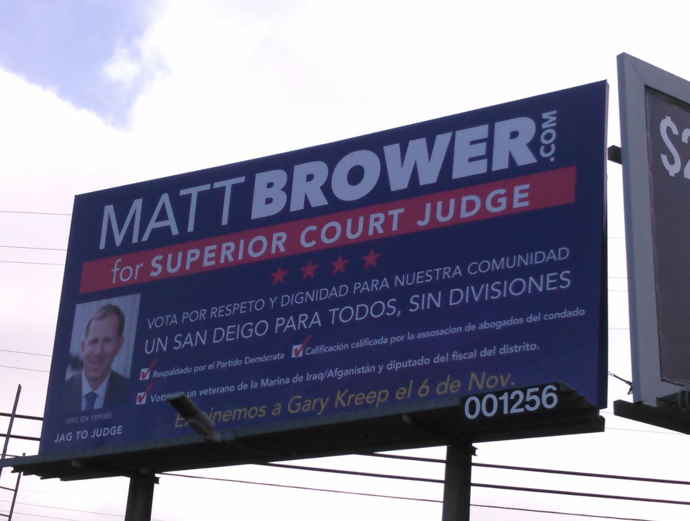 Brower 4 Judge Billboard in National City Oct 18