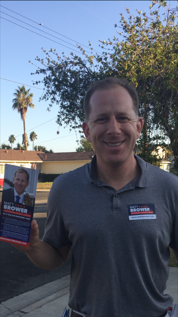 Door to door getting out the vote in Oceanside