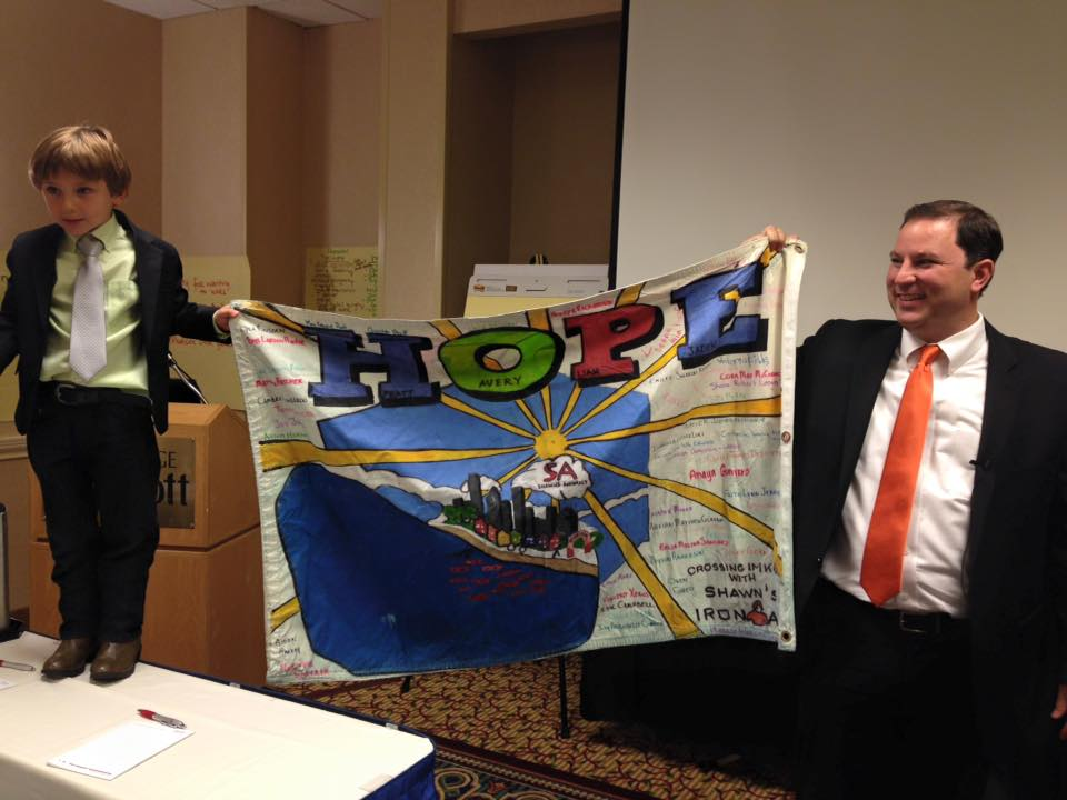 Shaw & Matt Present H.O.P.E. Flag In D.C.