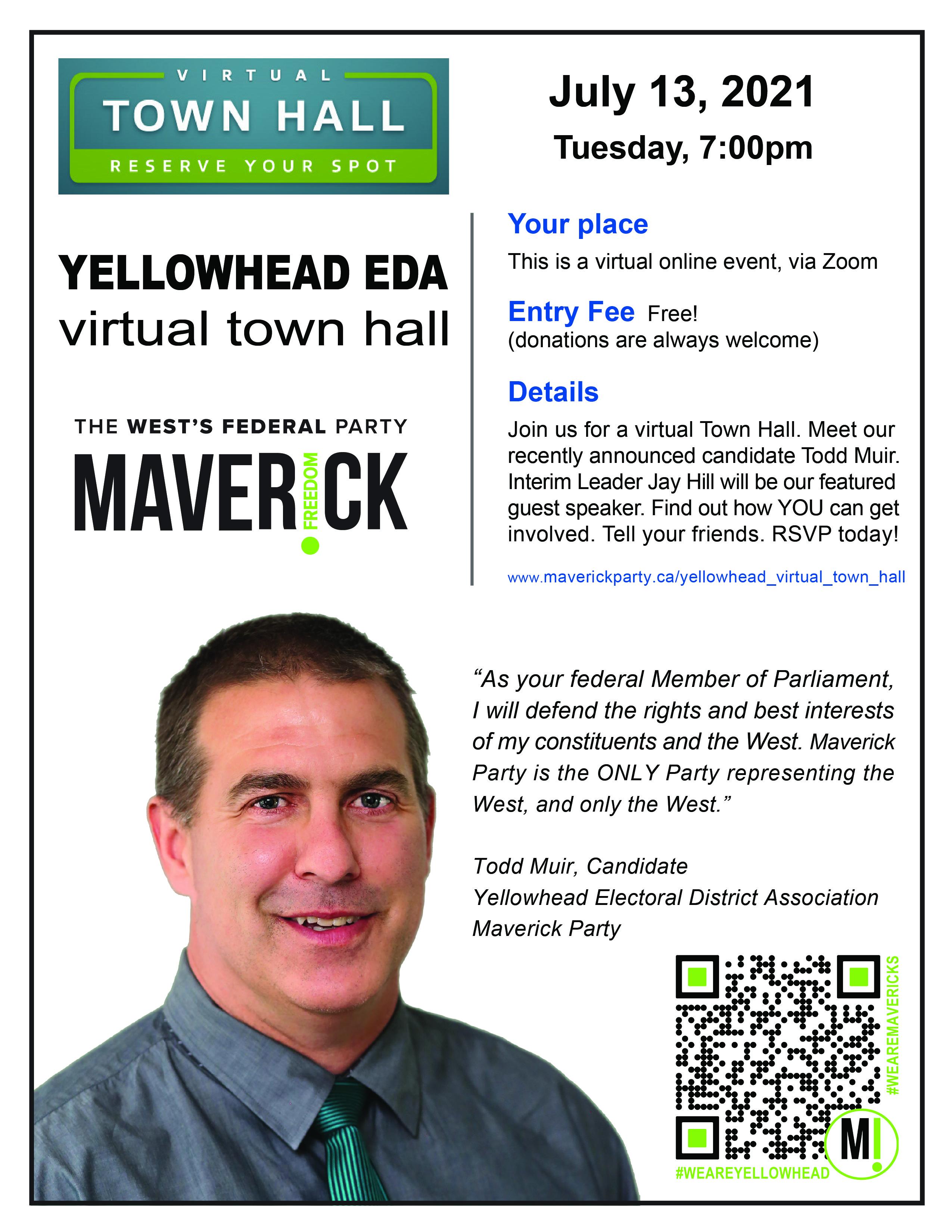 Yellowhead Virtual Town Hall Poster