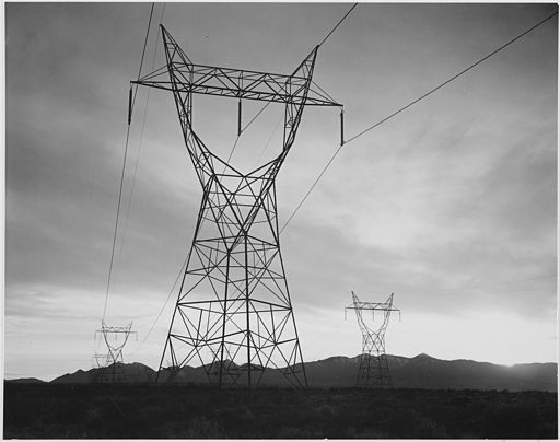 Ansel Adams photo of transmission lines