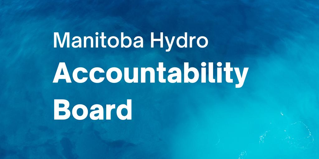Text: Manitoba Hydro Accountability Board