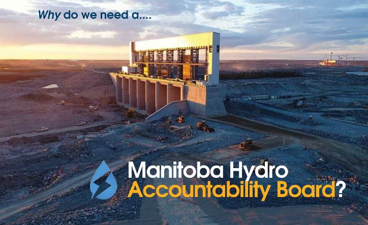 Picture of Keeyask dam with the text \