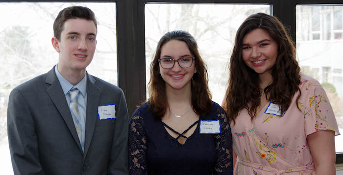 Three youth contestants for Oratory Contest