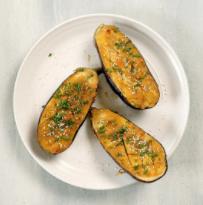 Roasted Miso Ginger Glazed Eggplant