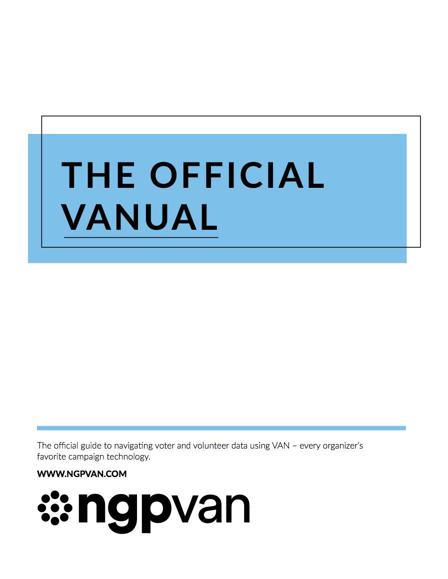 VoteBuilder VANual