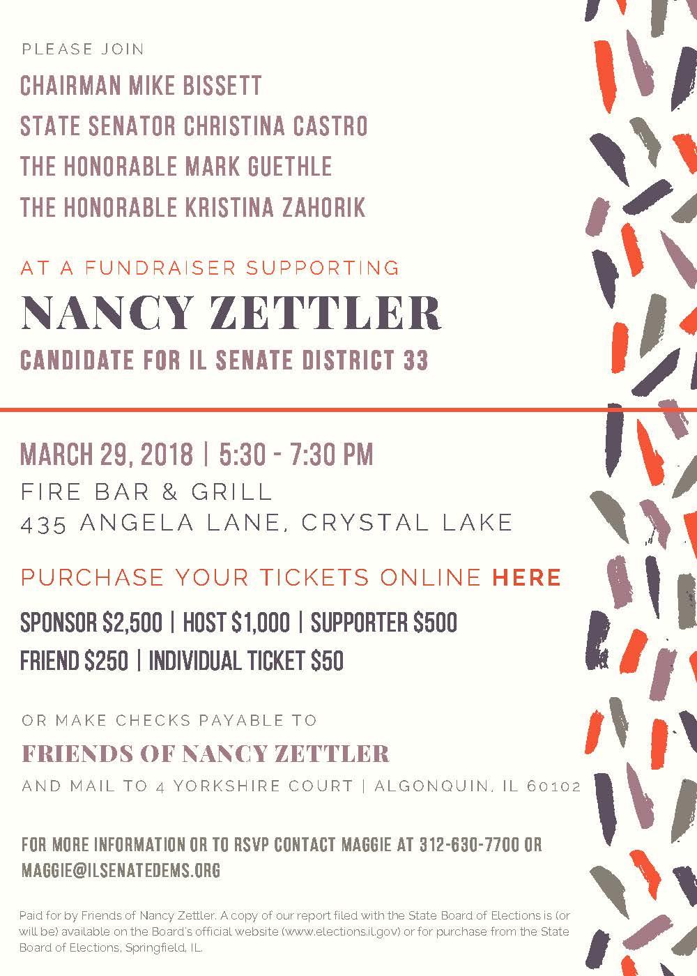 Nancy Zettler Fundraiser