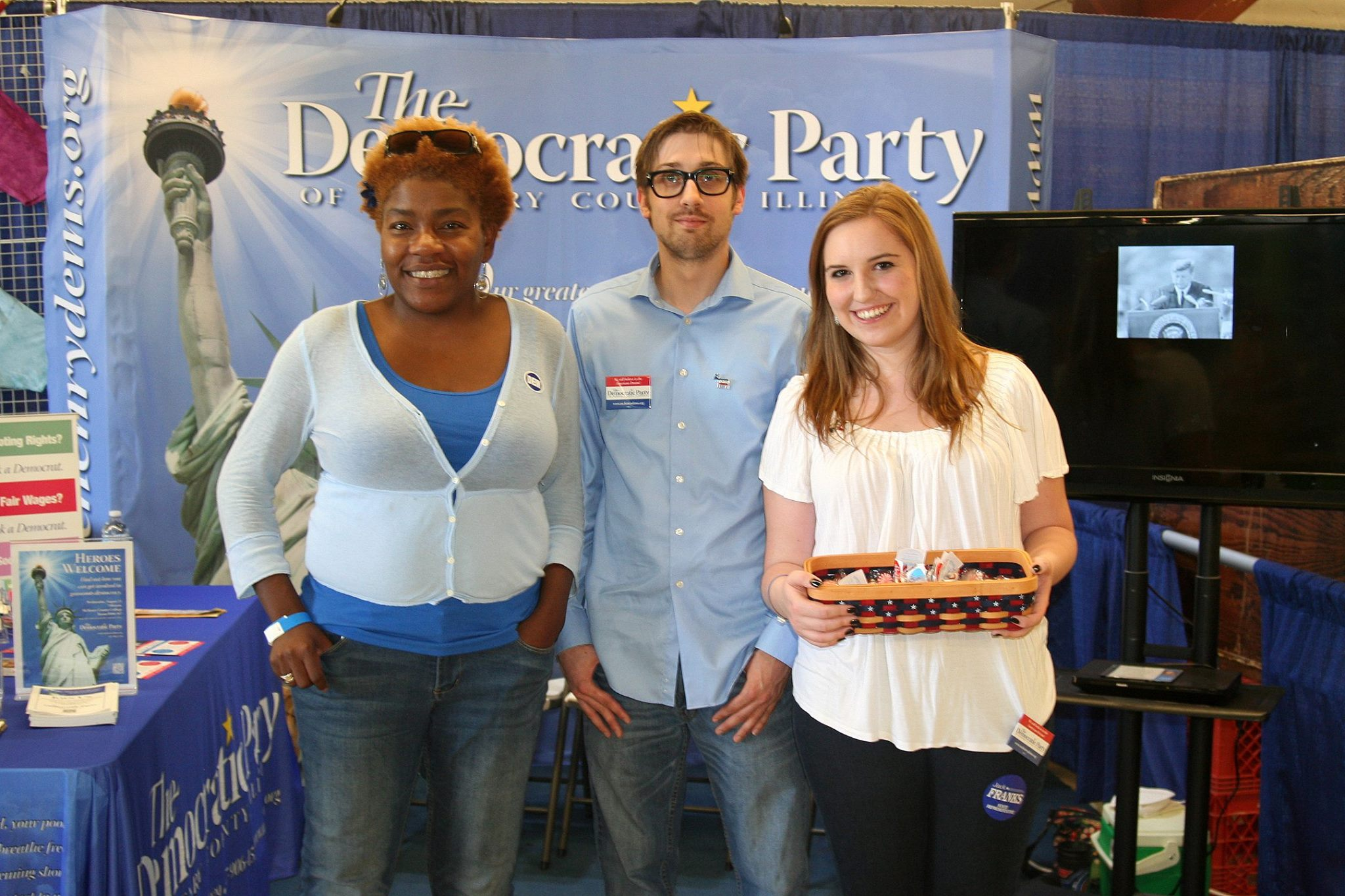 Democratic Party fair booth