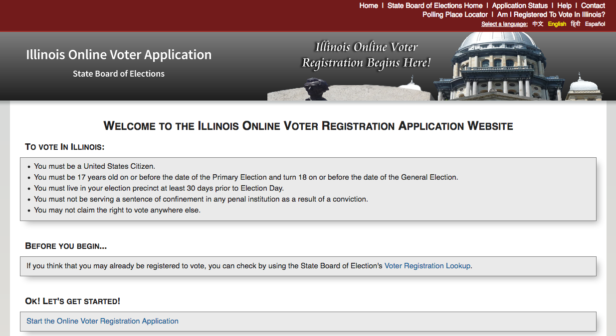 Register to vote website