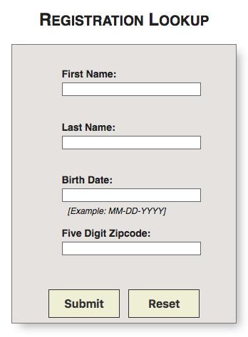 Registration Lookup