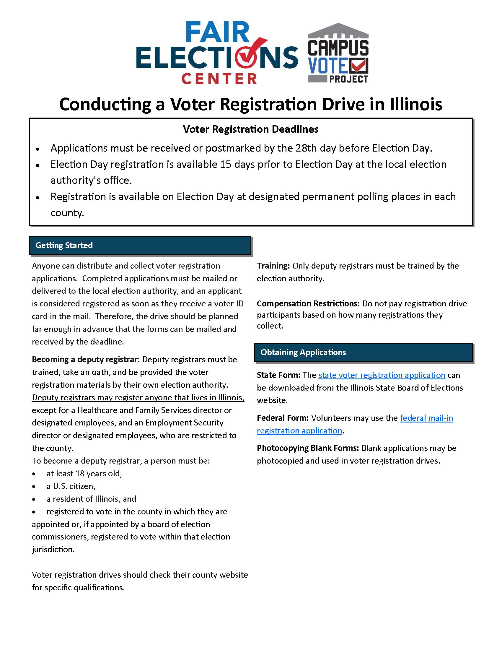 Voter Registration Drives