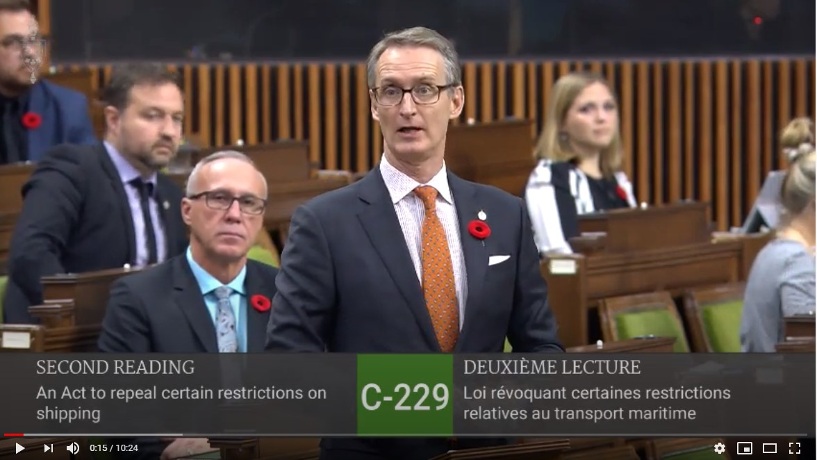 In Parliament: Bill to Repeal the Tanker Ban on BC's coast