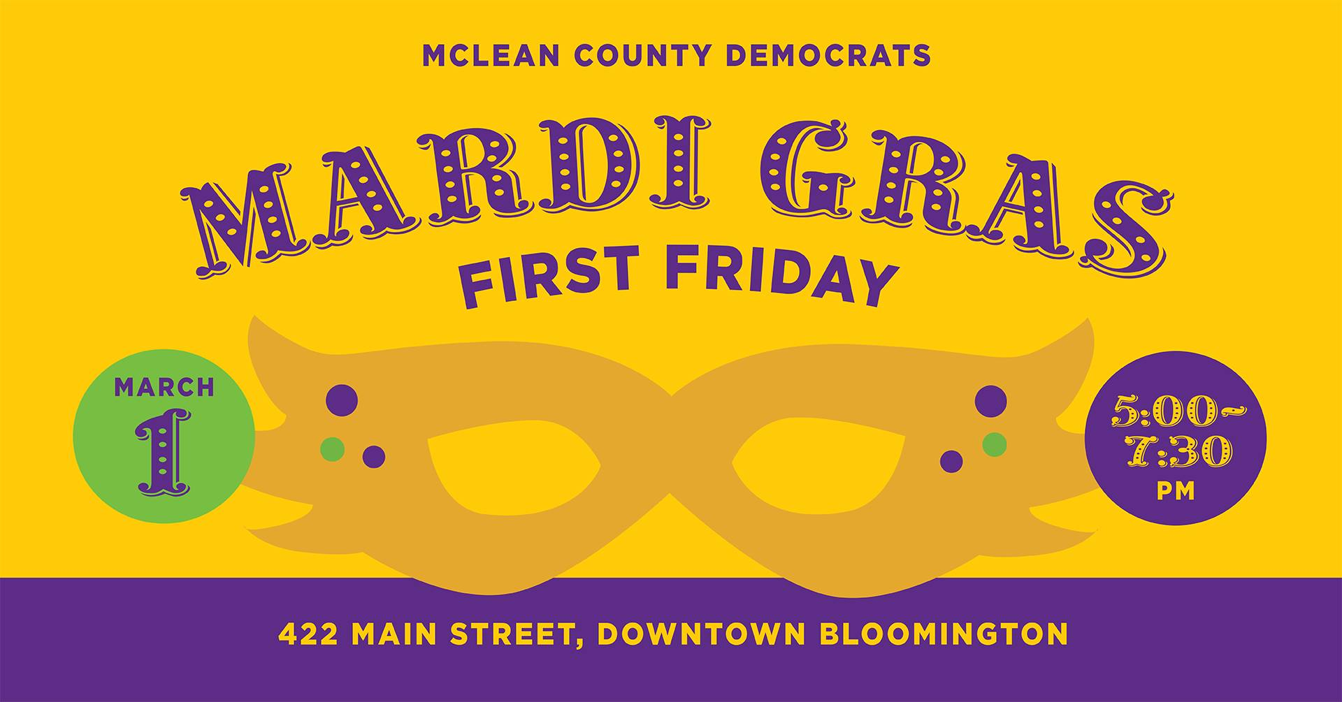 Mardi Gras First Friday invitation