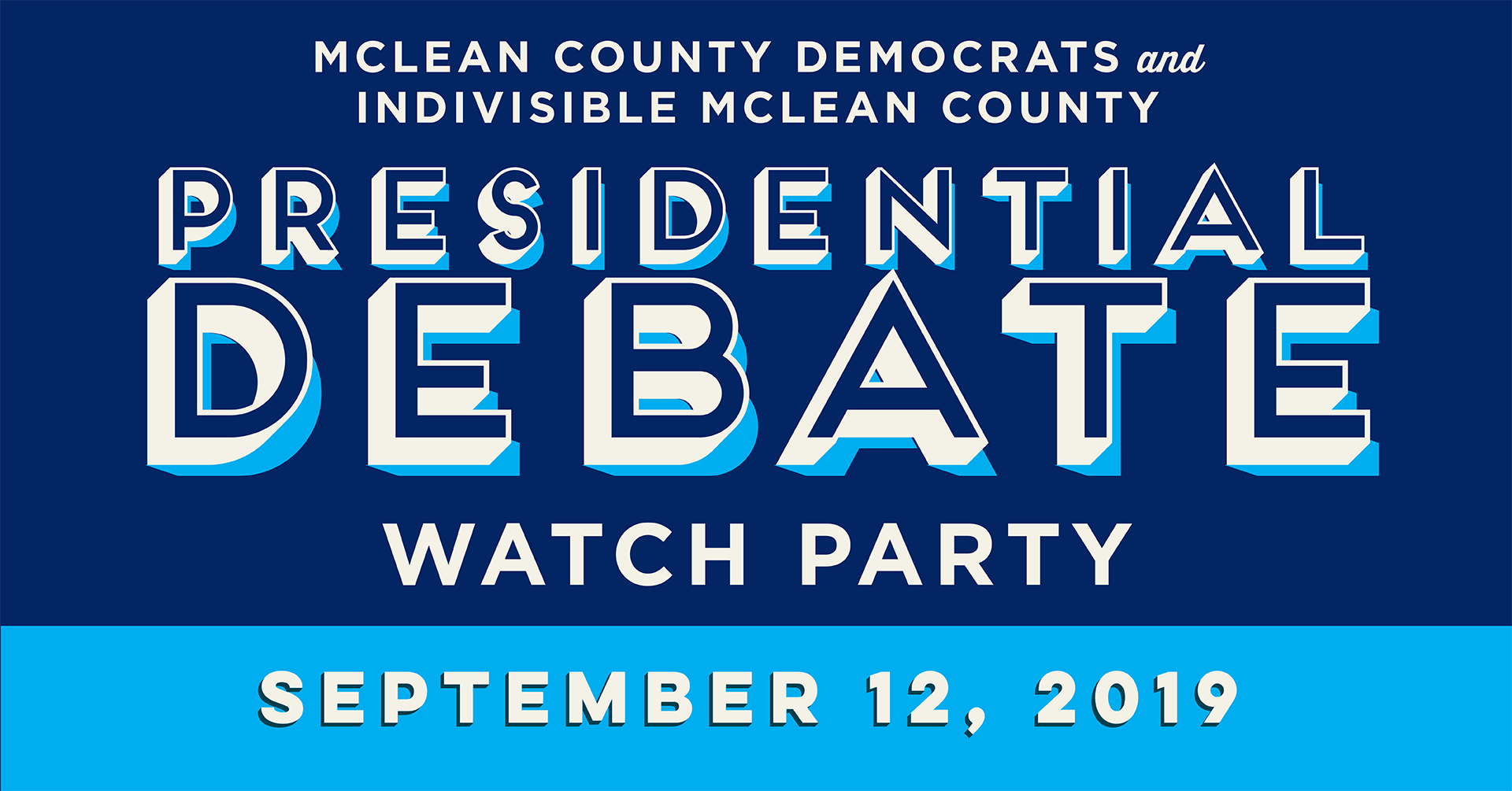 Debate Watch Party  9/12/19  6 PM 422 N Main St