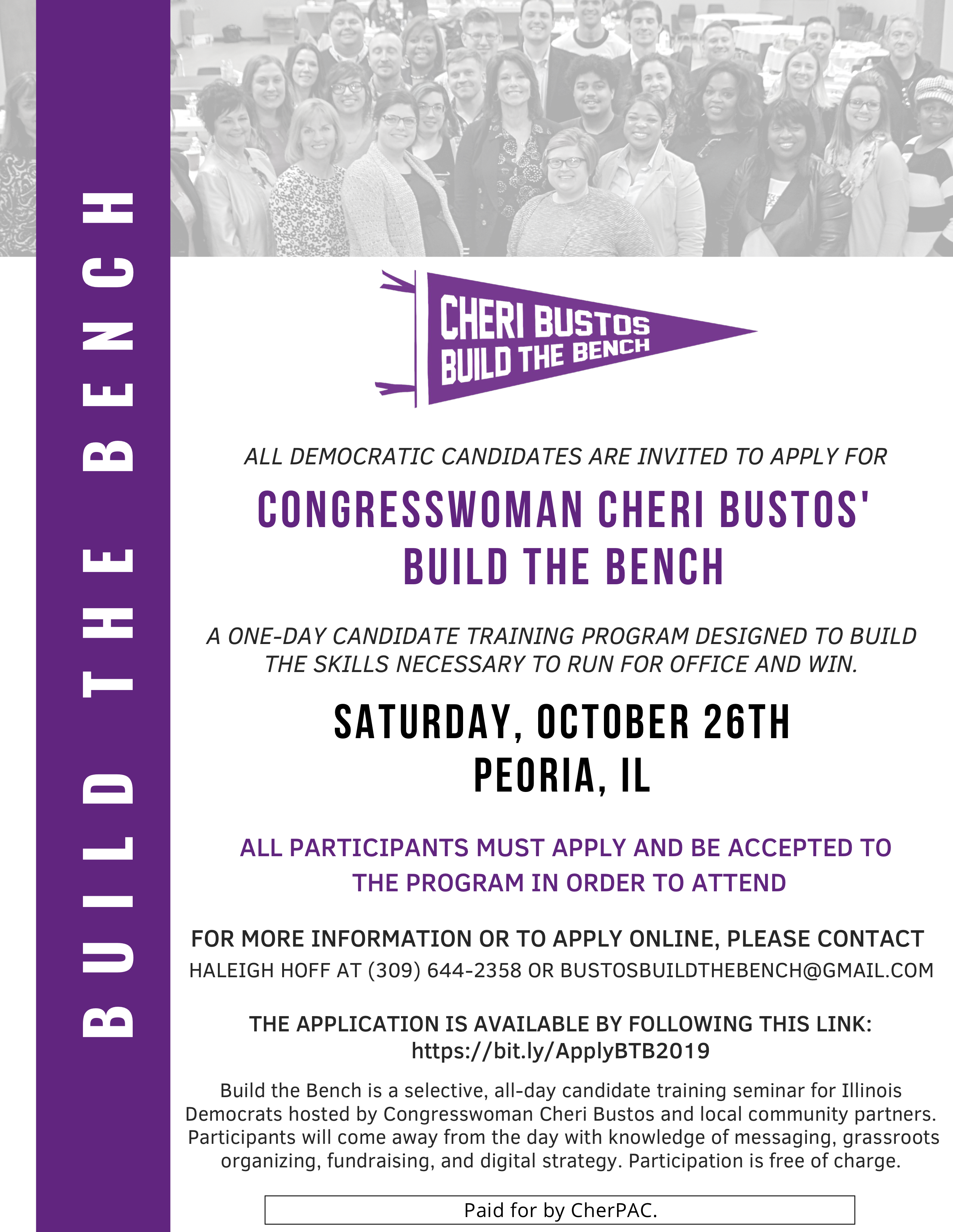 Cheri Bustos Build the Bench