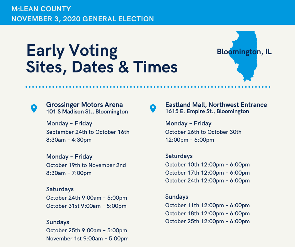 Early Voting Dates & Times 1