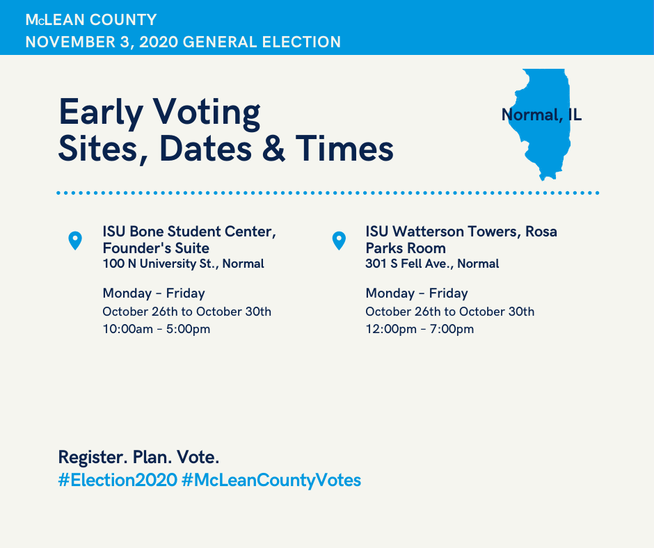 Early Voting Dates & Times 2
