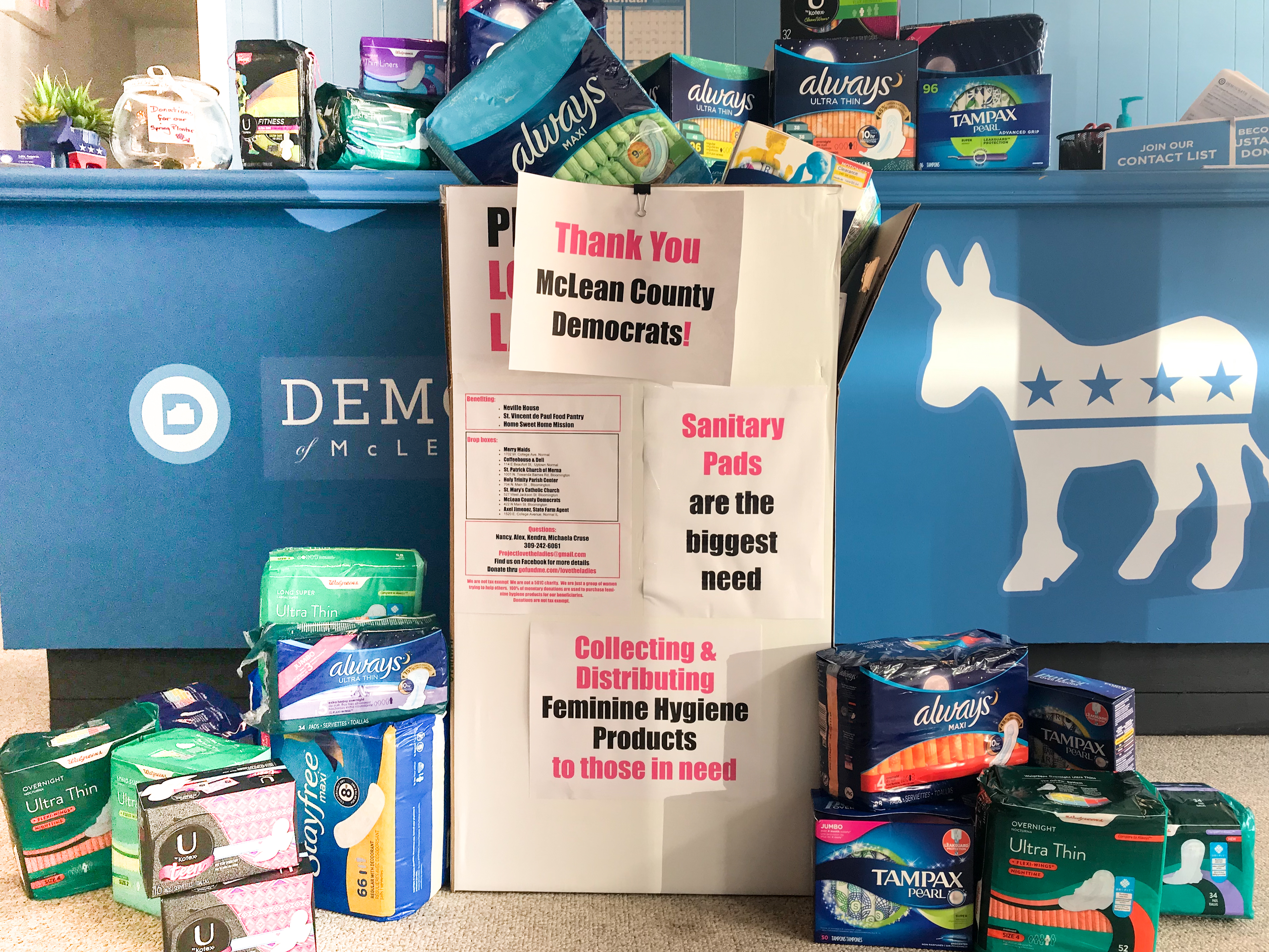 Feminine hygiene products donated for Love the Ladies