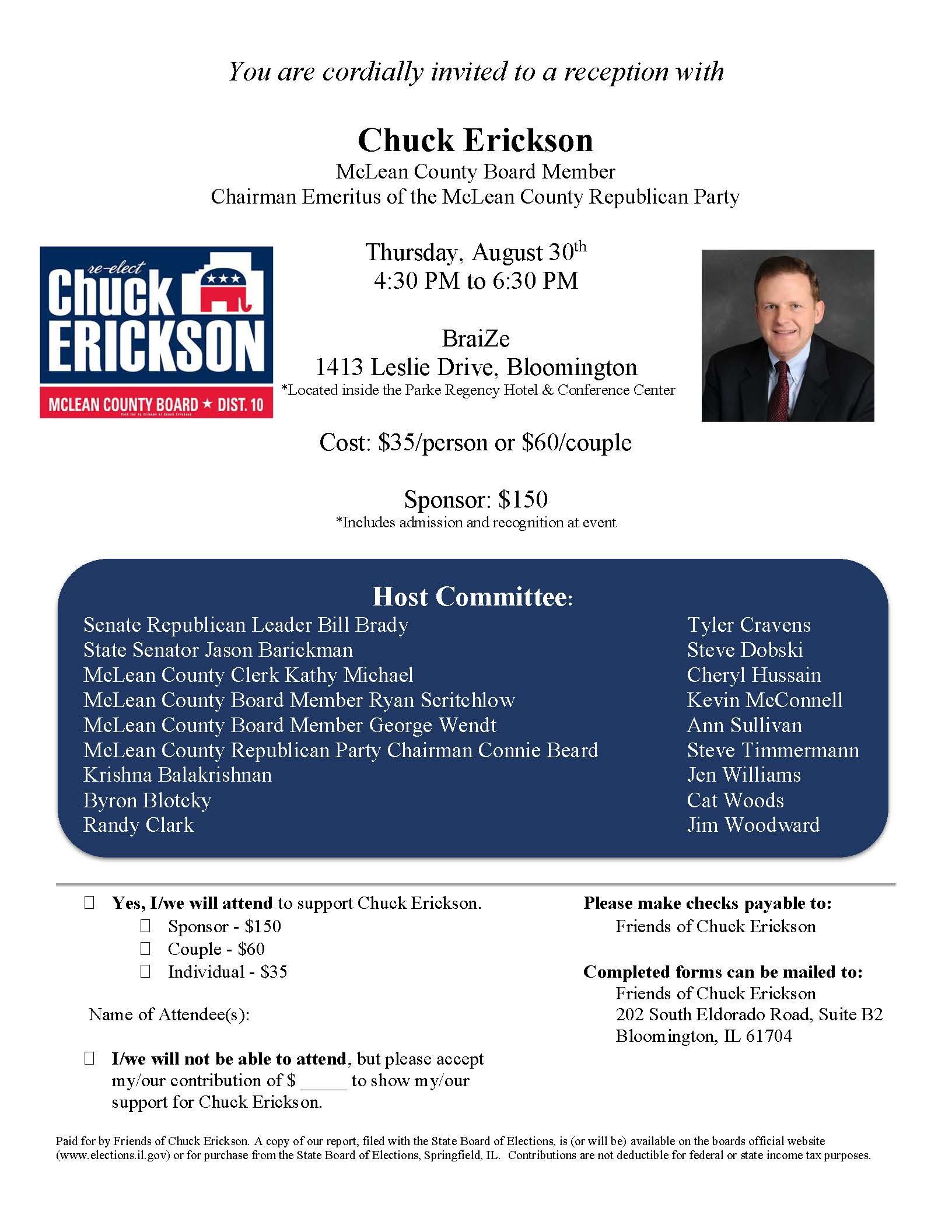 Erickson Fund Raiser