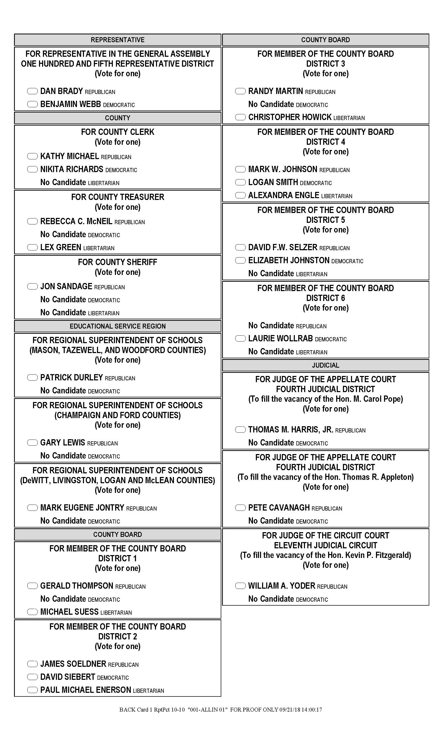 Sample ballots 2018 mclean county republican party.