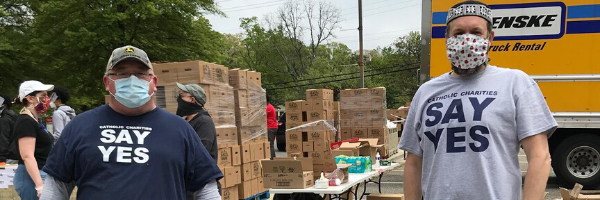 Catholic Charities food drive May 2020