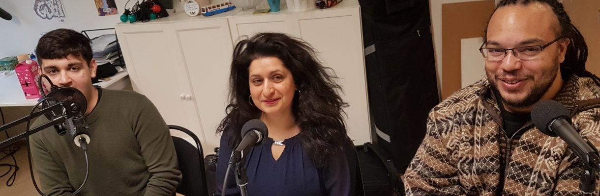 Rauand Ismail, Anita Rathore og Thomas Talawa Prestø diskuterer rasisme