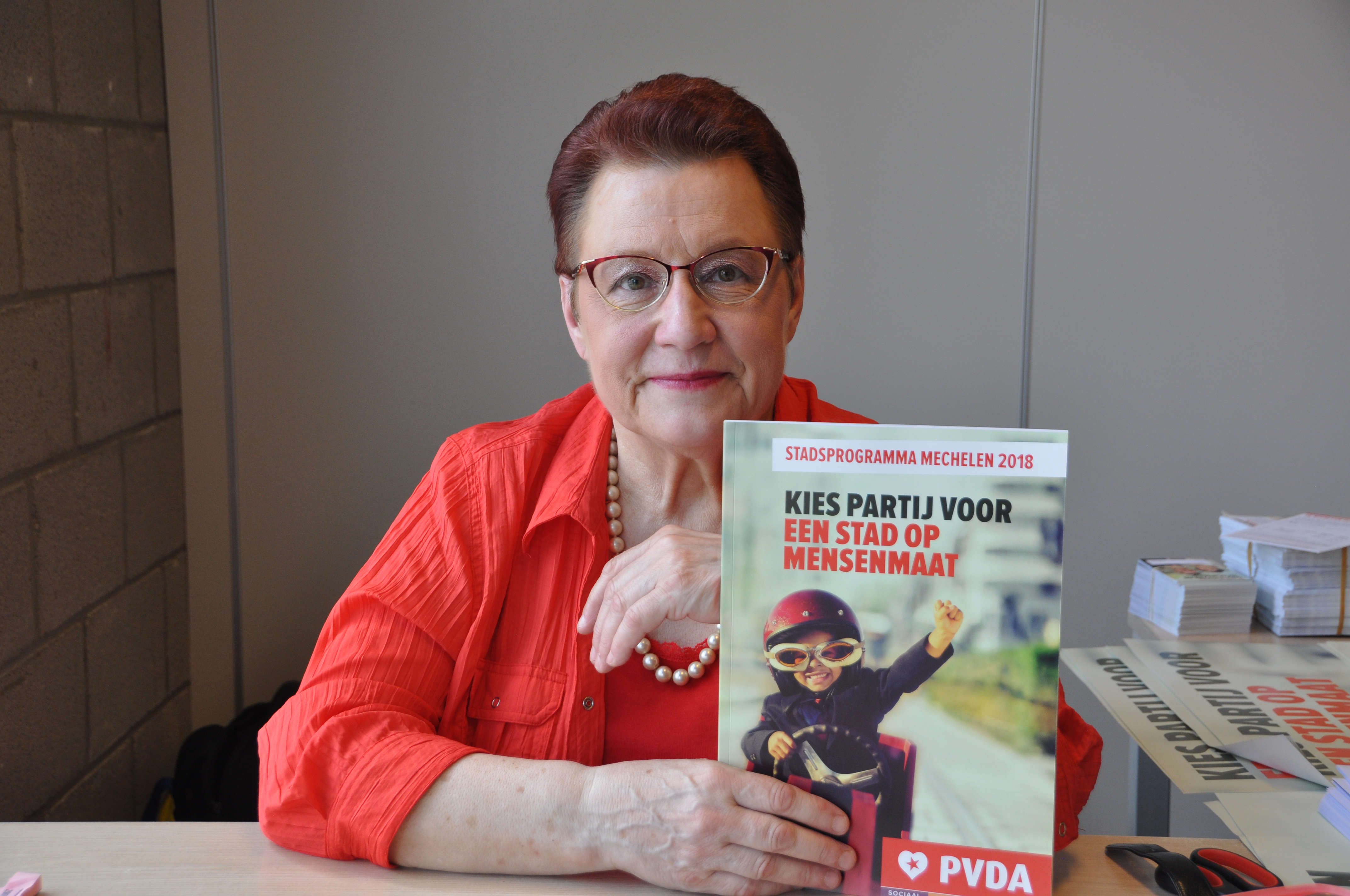 Paula Vaes met het programma