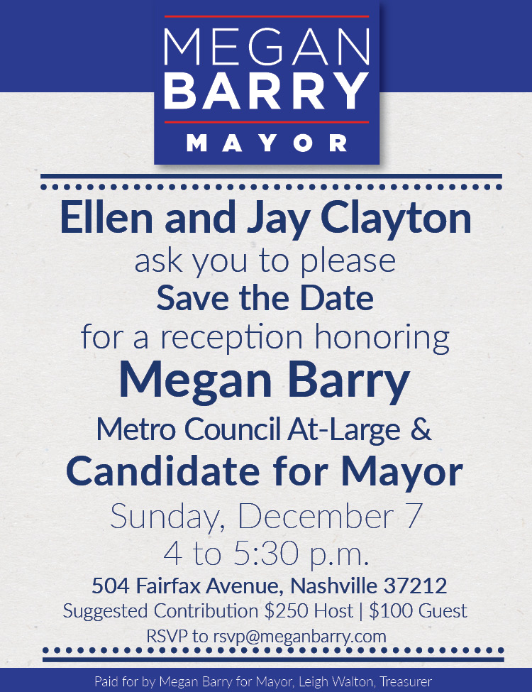Save the Date for the Ellen and Jay Clayton Reception