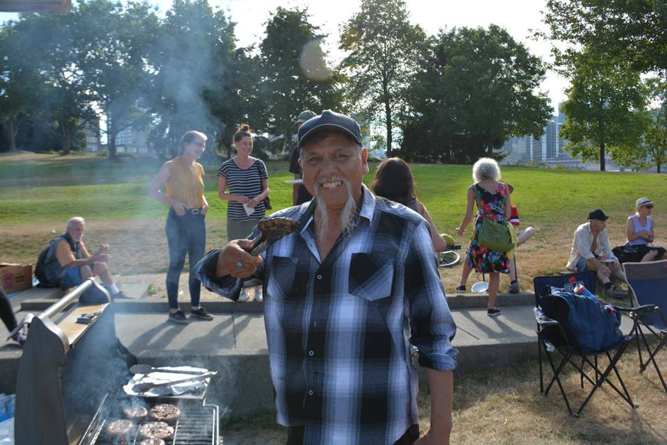 Megaphone vendor Peter at the 2017 Summer BBQ