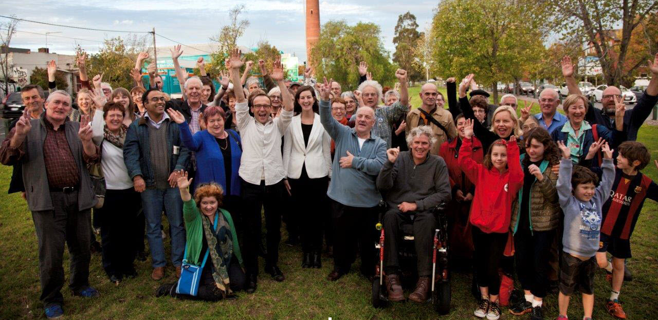 East-West_Link_Defeated_Celebration_attending_rally_Bandt_volunteers_small_and_cropped.jpg