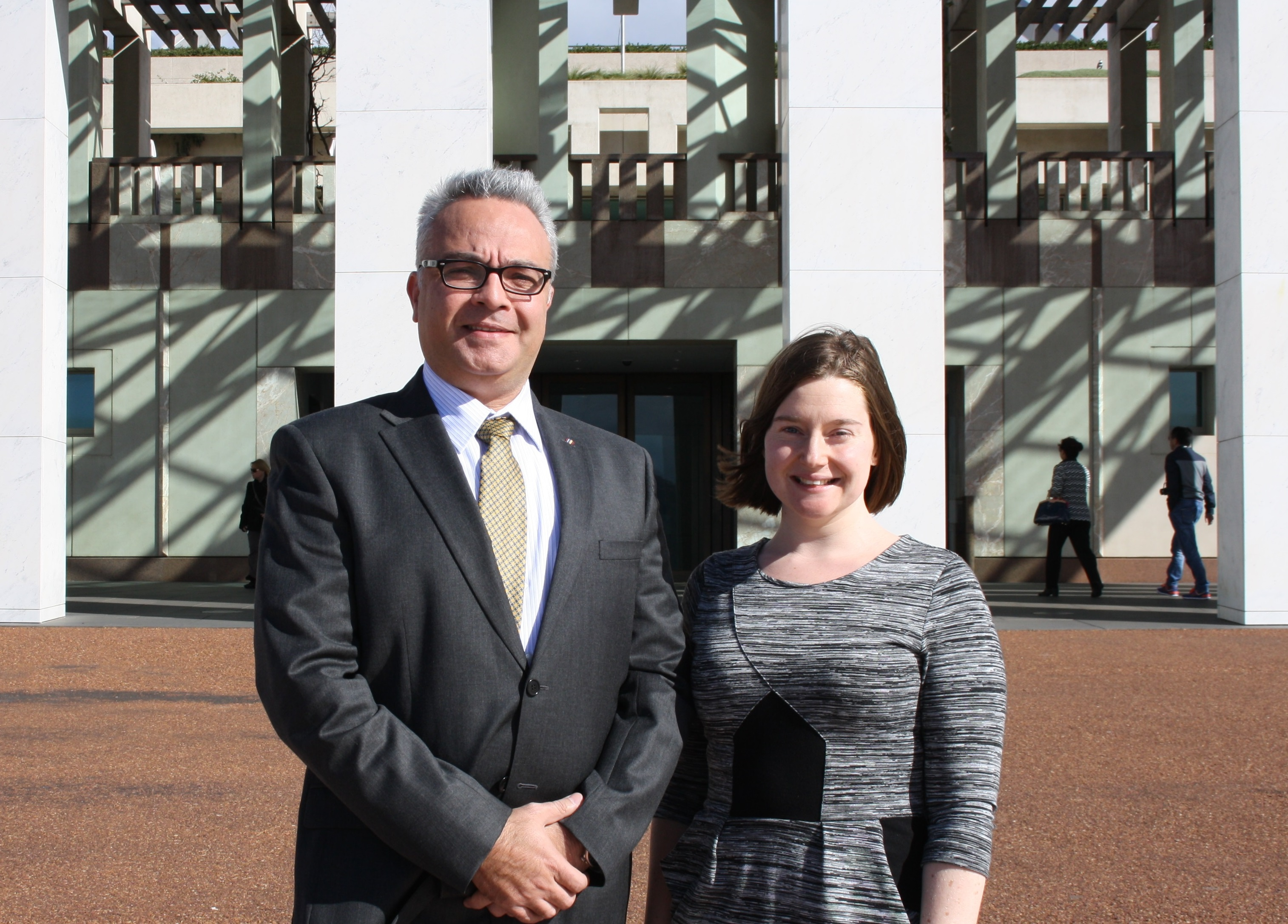 Jess and George at Parliament House