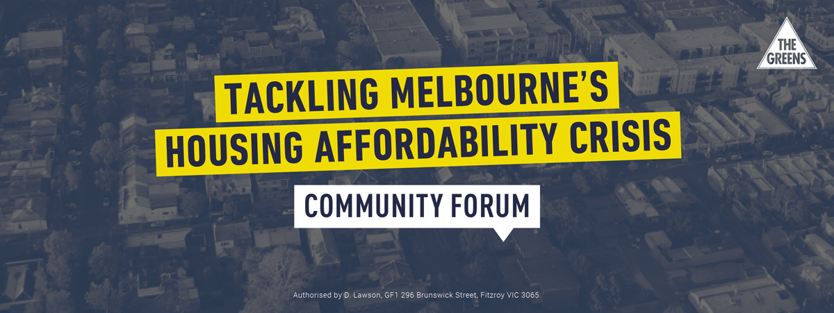 Community Forum on housing affordability banner