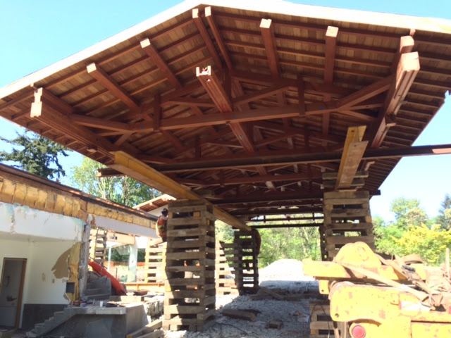 Coval Pool House Roof Move