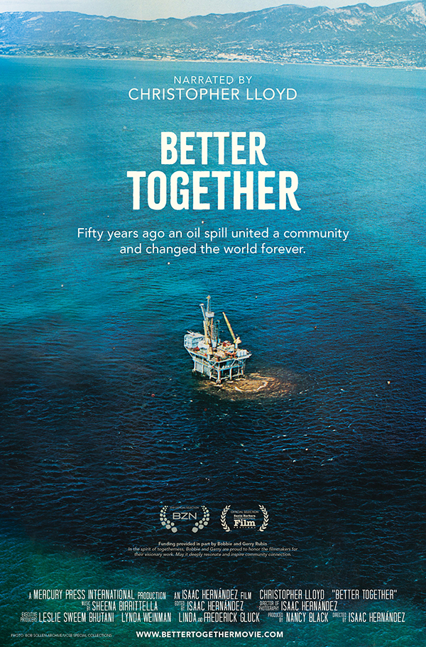 Better Together oil spill poster 1969 Christopher Lloyd
